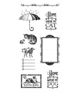 Carimbos GRAPHIC 45 Raining Cats & Dogs 3