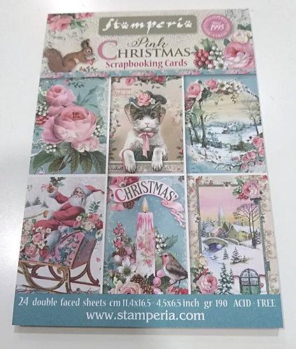 Cartões Scrapbooking PINK CHRISTMAS
