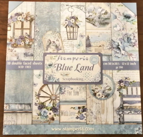 Conj. Scrap Stamperia Blue Land