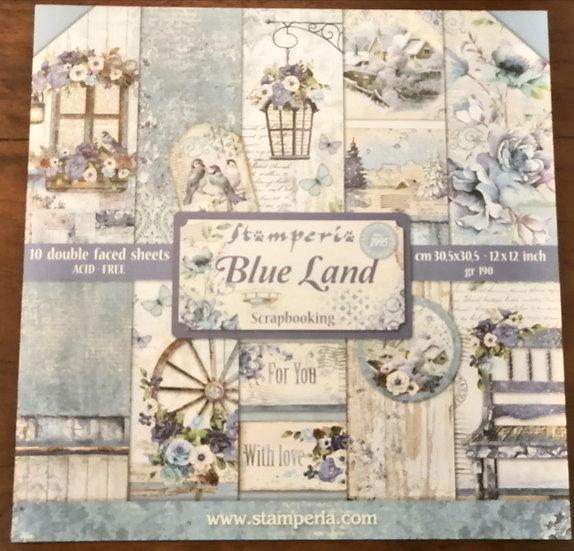 Conj. Scrap Stamperia Blue Land