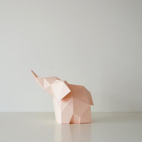 Papercraft Kit Baby Elephant Soft pink