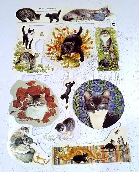 Scrap Relief Ivory Cats