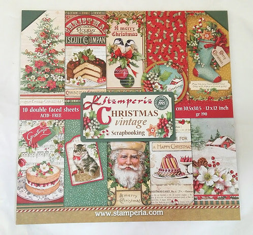 Kit para Scrapbooking Christmas Vintage
