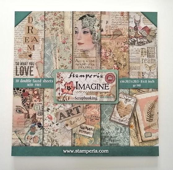 Conjunto de Scrapbook Imagine