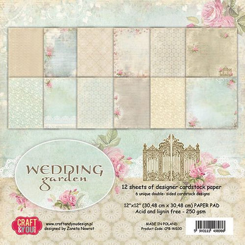Kit para Scrapbooking Wedding Garden