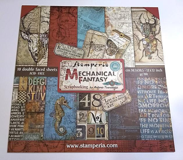 Kit Scrap STAMPERIA Mechanical Fantasy