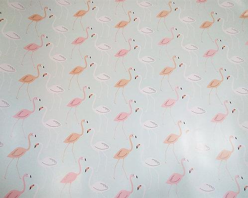 Papel Embrulho Flamingos