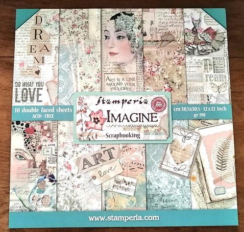Conj. Scrap Stamperia Imagine