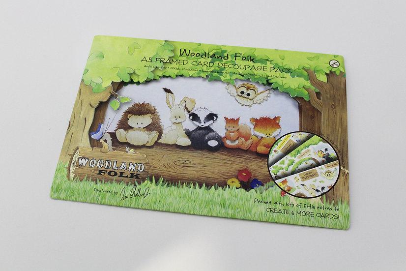 Kit para fazer Cartão Postal Woodland Folk