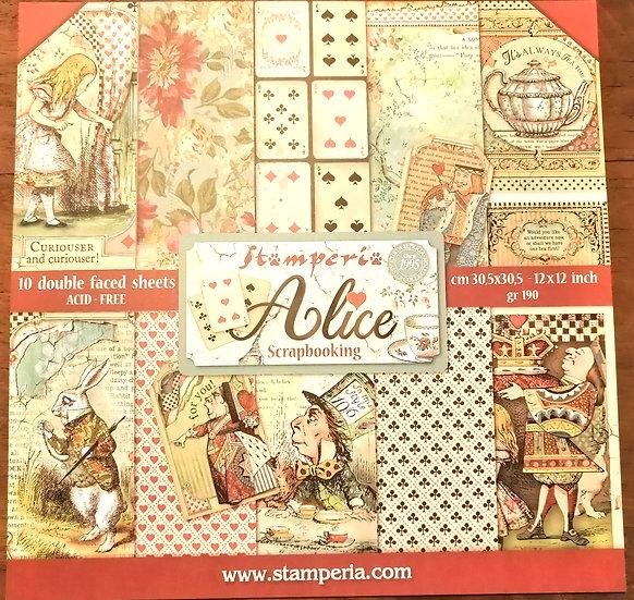 Conj. Scrap Stamperia Alice