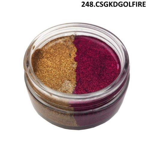 Textura com Glitter Golden Fire Duo