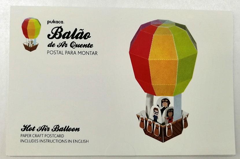Postal Balão ar quente PUKACA