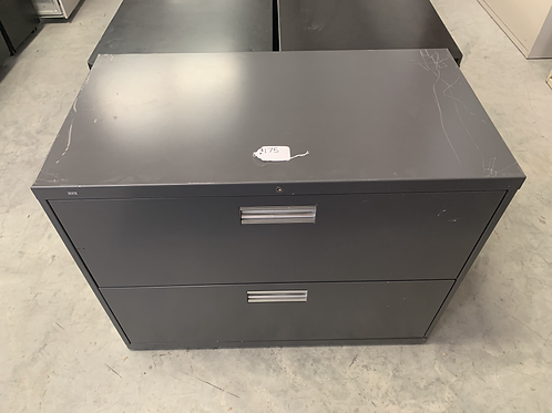Gray 2 Drawer Latteral