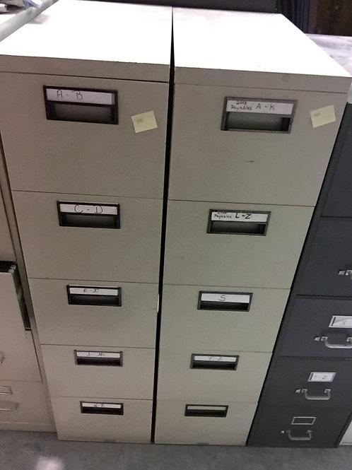 Steel Case 5 drawer File Cabinet
