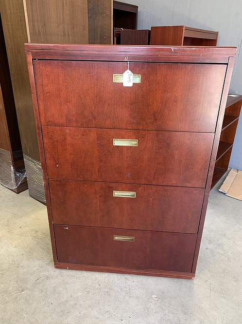 4 Drawer Mahogany Latteral File Cabinet