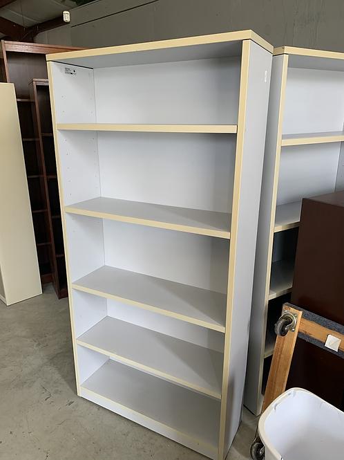 Gray bookshelf