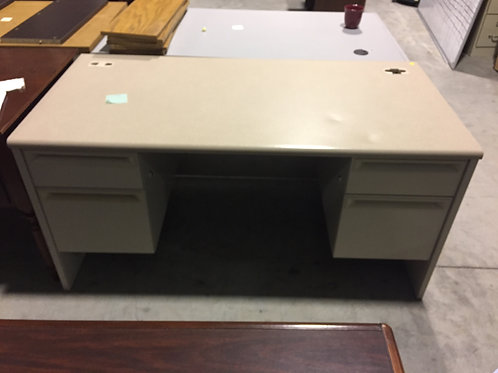Cream Desk with Steel Base