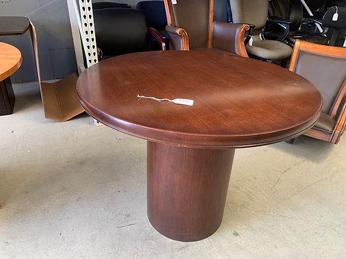 36 inch Mahogany round pedestal table