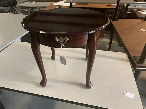 24 inch round Mahogany in table