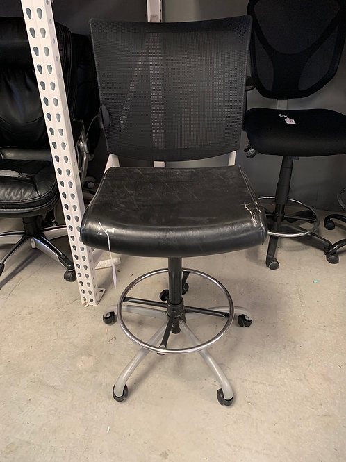 Black mesh back stool height chair