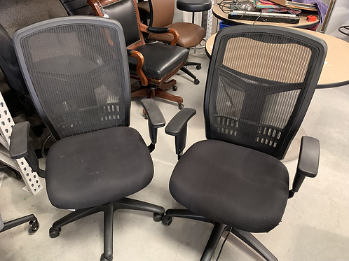 Used all Black Multifunction Black Mesh Chair