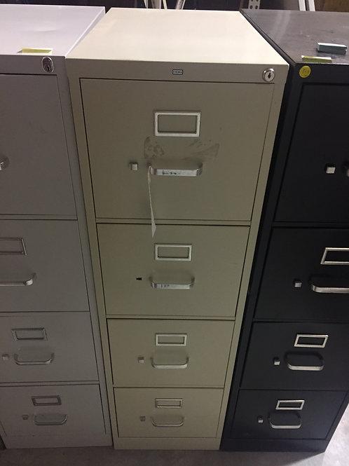 Tan 4 Drawer File Cabinet
