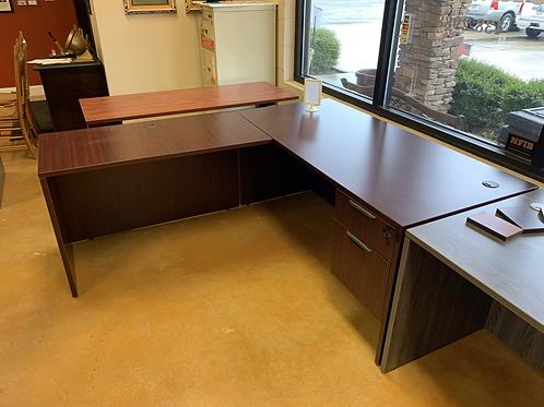 """Mahogany """"L"""" Desk"""