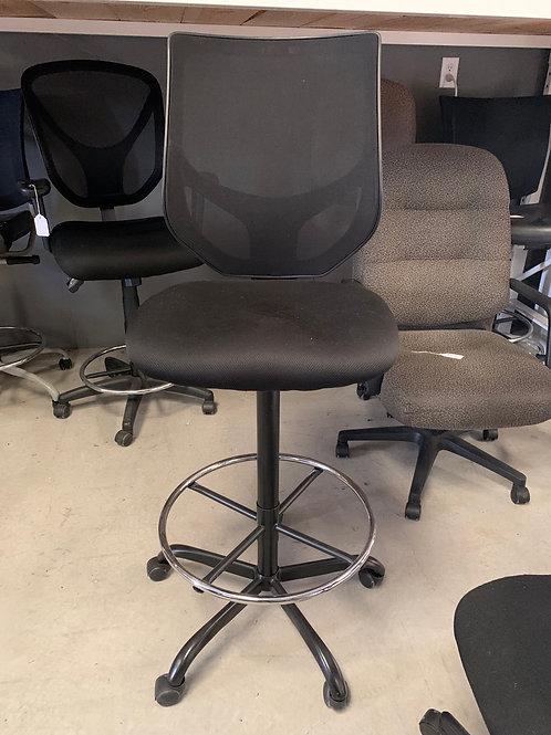 Black mesh back stool height chair