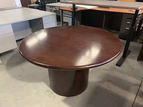 48 inch round Mahogany table