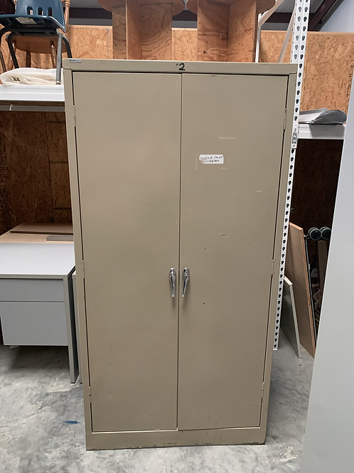 Tan colored Storage cabinet