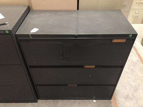 3 Drawer Olive Colored Lateral File