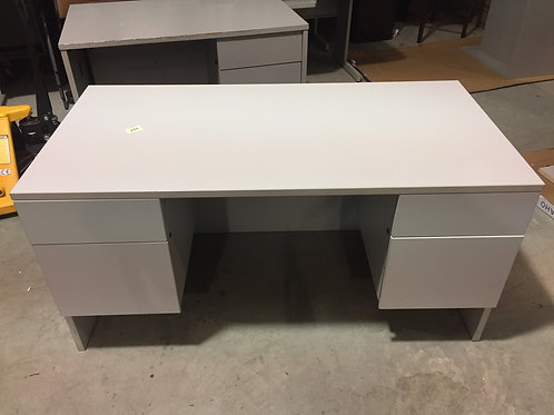 Gray Desk with Storage