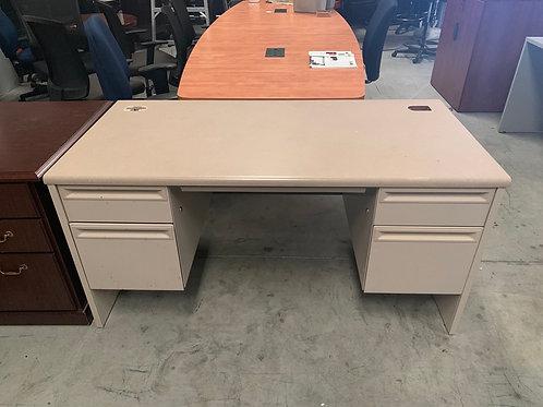 Cream Desk with Steel Base