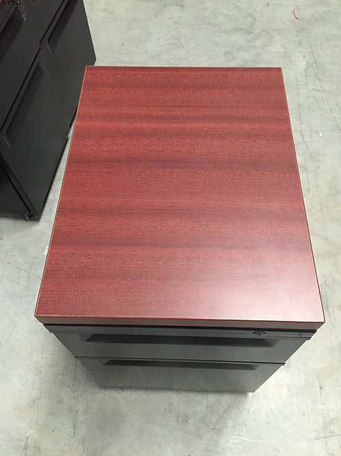 Rolling Pedestal with Bod Drawer and File Drawer