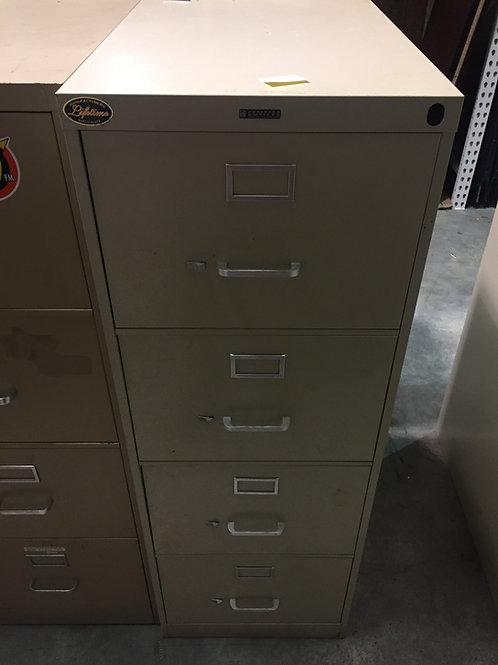 Light Tan 4 Drawer Legal Size File Cabinet