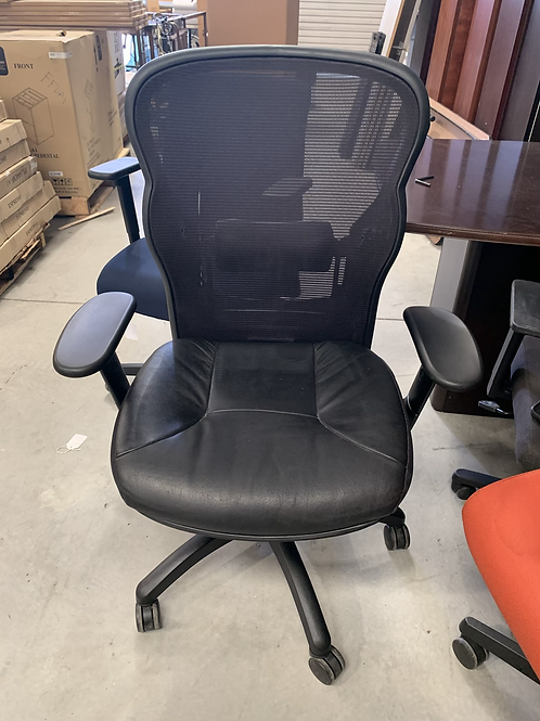 Used Mesh Back and Leather Seat