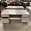 Thumbnail: Double pedestal gray desk