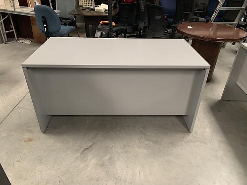 Double pedestal gray desk