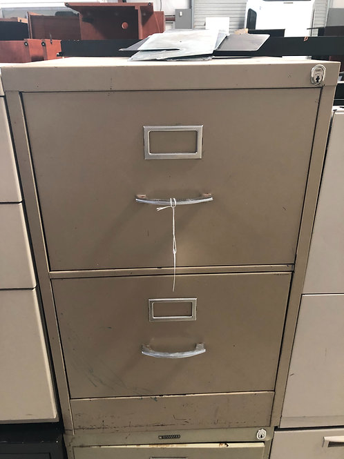 2 Drawer File Cabinet Used