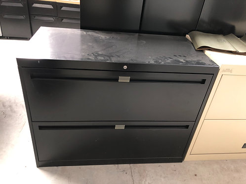 Black 2 Drawer Lateral 2221