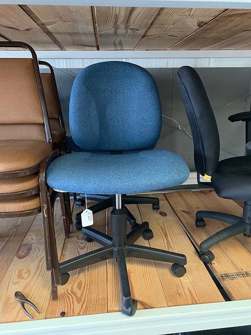 Blue cloth chair