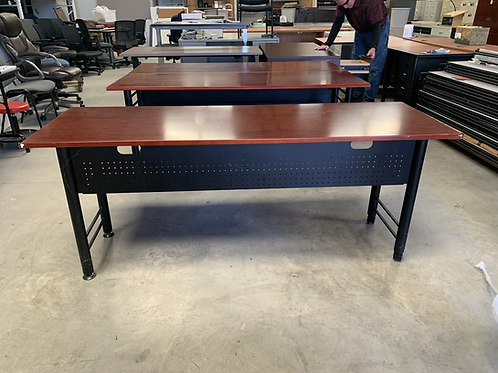Used Mahogany Colored Training table