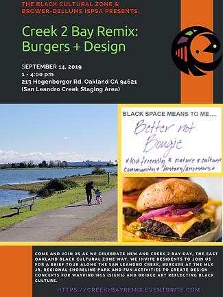 San Leandro Creek to Bay Burgers Design East Oakland Hegenberger Lisjan Black Culture MLK Jr Regional Shoreline Park.png