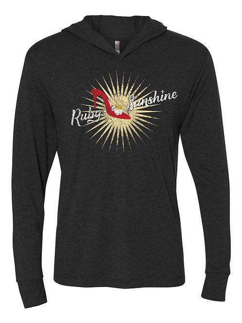 Ruby Sunshine Distressed Logo Hooded Tee