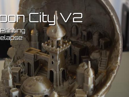3D Printing Timelapse: Moon City V2
