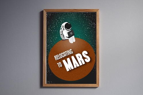 Relocating to Mars - Digital Download, A4 Printable PDF