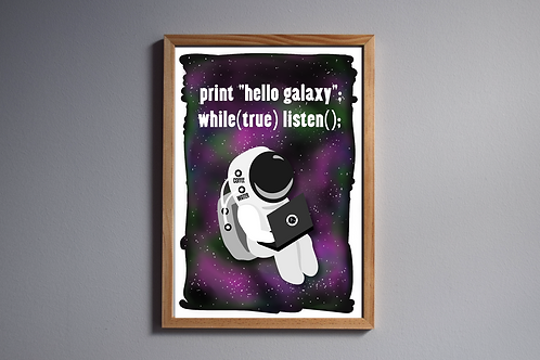 Hello Galaxy - Digital Download, A4 Printable PDF