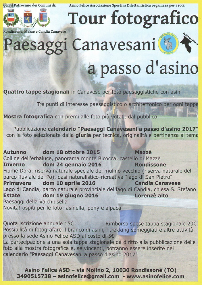 Tour Fotografico Paesaggi Canavesani a passo d'asino