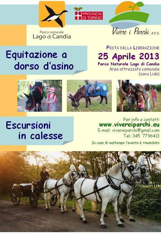 festa liberazione lago candia asini cavalli 25 aprile