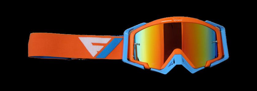 Rythem Motocross Goggles ORG/BLU